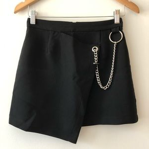 Forever 21 Asymmetric Skirt with Chain Detailing
